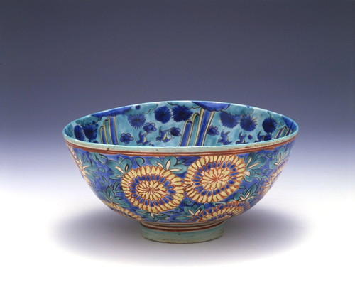 色絵菊龍文鉢