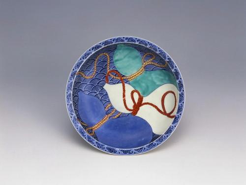 色絵三瓢文皿