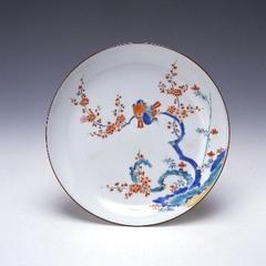色絵花鳥文皿(柿右衛門様式)