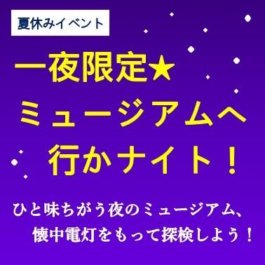 夏休みイベント 一夜限定☆ミュージアムへ行かナイト!