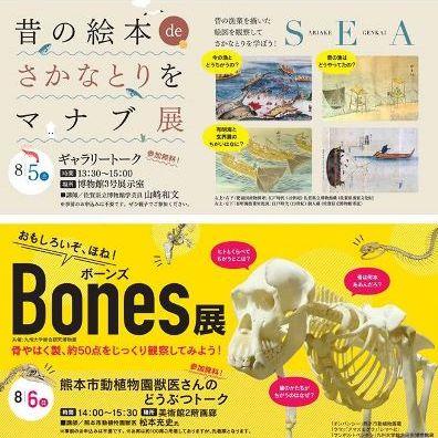 テーマ展「おもしろいぞ、ほね!Bones展&昔の絵本deさかなとりをマナブ展」