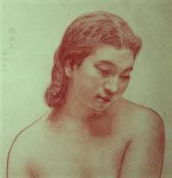 『裸婦胸像 習作』
