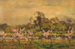 山口亮一《桃咲く頃》1926年、佐賀県立美術館蔵