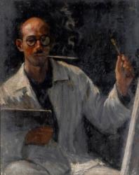 山口亮一《自画像》1931年、佐賀県立美術館蔵