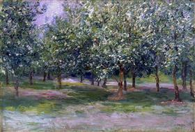 岡田三郎助《桃の林》1917年、佐賀県立美術館