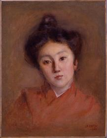 岡田三郎助《清楚(少女)》1907、佐賀県立美術館