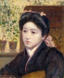 岡田三郎助《若き娘の顔》佐賀大学美術館蔵