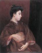岡田三郎助《婦人像》