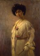 高木背水《婦人肖像》