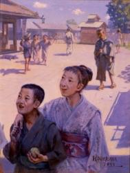 中沢弘光《八月》佐賀県立美術館蔵