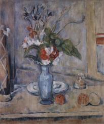武藤辰平 「青い花瓶」(セザンヌ模写)