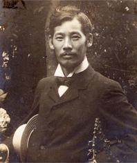 岡田三郎助肖像写真(明治39年)