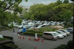 駐車場の混雑