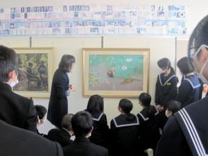 ミュージアムキャラバンの様子(川登中学校)