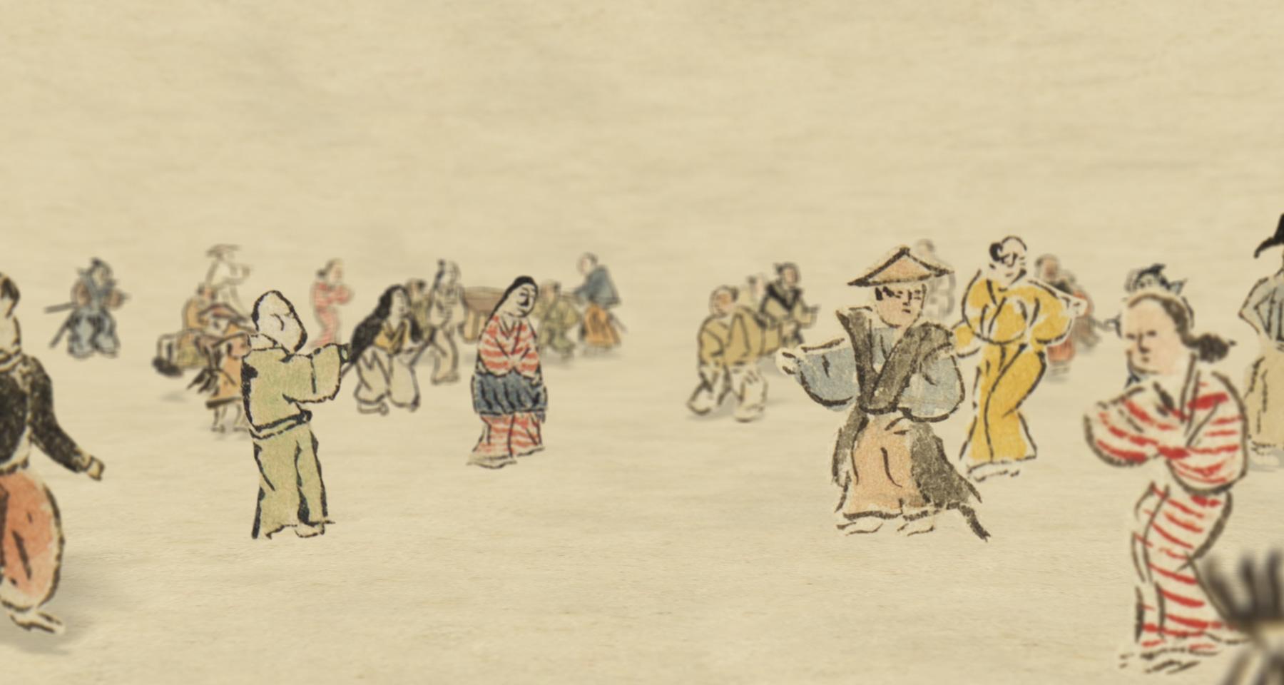 映像作品「名護屋城物語II」の一場面
