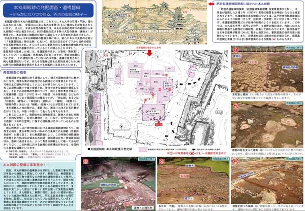 本丸御殿跡の発掘調査・遺構整備