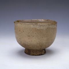 藁灰釉茶碗 銘「玄峯」