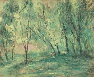 岡田三郎助《新緑》1929年 佐賀県立美術館