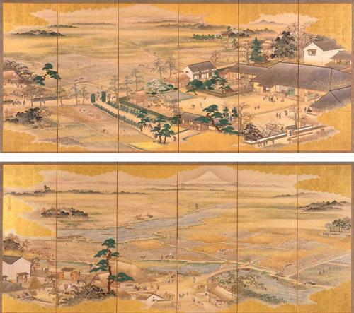 長谷川雪旦《四季耕作図》