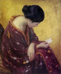 岡田三郎助《来信》1928年(昭和3)、個人蔵.jpg