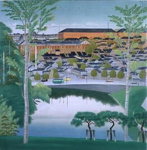 池田幸太郎《三宅坂付近》 1930(昭和5)年、佐賀県立美術館蔵.jpg