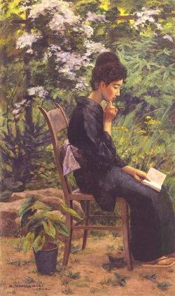 山口亮一 《緑の庭》 1926(大正15)年