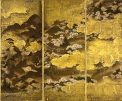《吉野山図屏風》館蔵(左隻右)