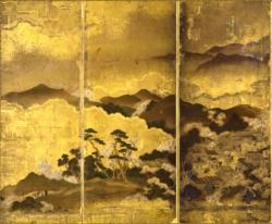 《吉野山図屏風》館蔵(左隻左)