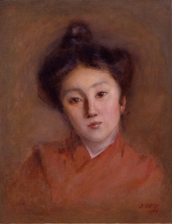 岡田三郎助《清楚》1907年、佐賀県立美術館蔵
