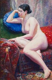 岡田三郎助《裸婦》1935(昭和10)佐賀県立美術館、県重要文化財