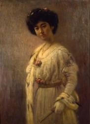 高木背水《婦人肖像》1915年頃、佐賀県立美術館蔵