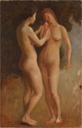 岡田三郎助《花の香(エスキース)》1903年頃、個人蔵(寄託)