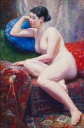 岡田三郎助《裸婦》1935年、佐賀県立美術館蔵 県重要文化財