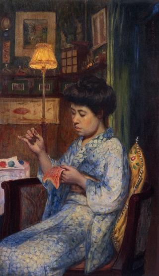 「岡田三郎助 縫い取り」の画像検索結果