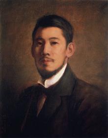 岡田三郎助《自画像》佐賀県立美術館