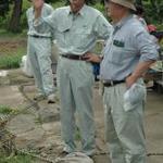 七田忠昭館長の指導を受け吉野ヶ里遺跡で発掘体験-博物館実習-