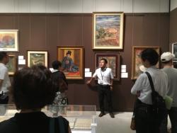 山口亮一と佐賀美術協会の100年展、ギャラリートークの様子