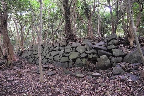 島津義弘陣跡 残存する石垣
