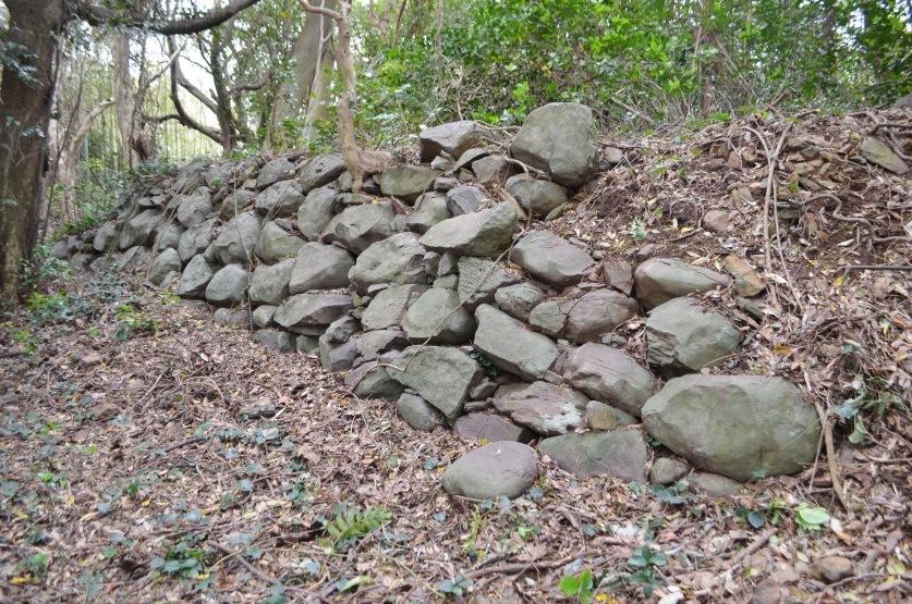 真田昌幸陣跡の石垣