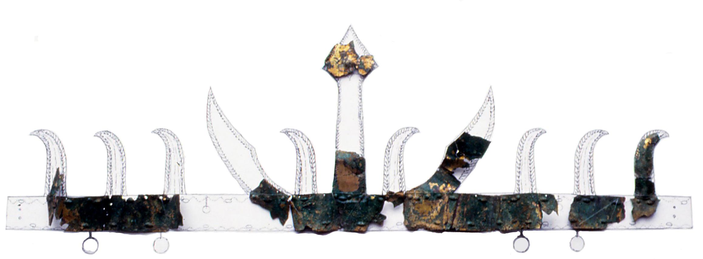 潮見古墳金銅製冠