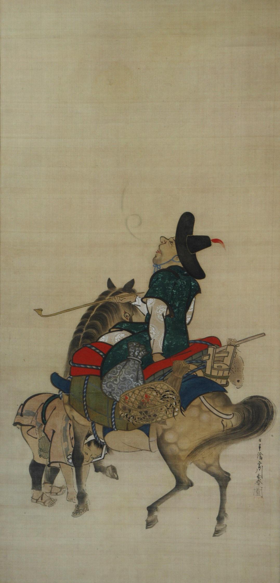 朝鮮使節騎馬図