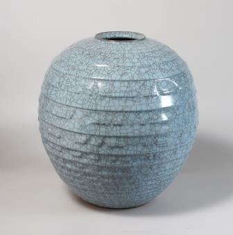 青瓷彫文壺(中島氏)