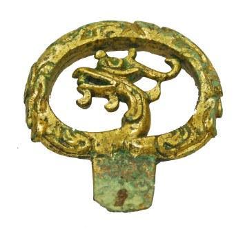 国重要文化財 双六古墳出土 金銅製単鳳環頭大刀柄頭